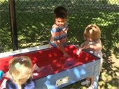 Children at the water table