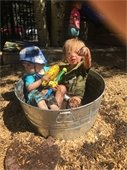 Kids in bucket