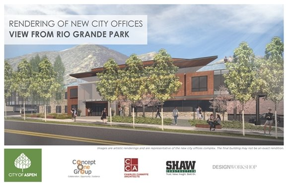 Rendering of New City Offices