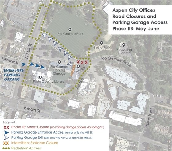 Aspen City Offices Road Closures - May - June 2019