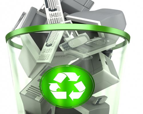 e-waste-in-recycle-bin
