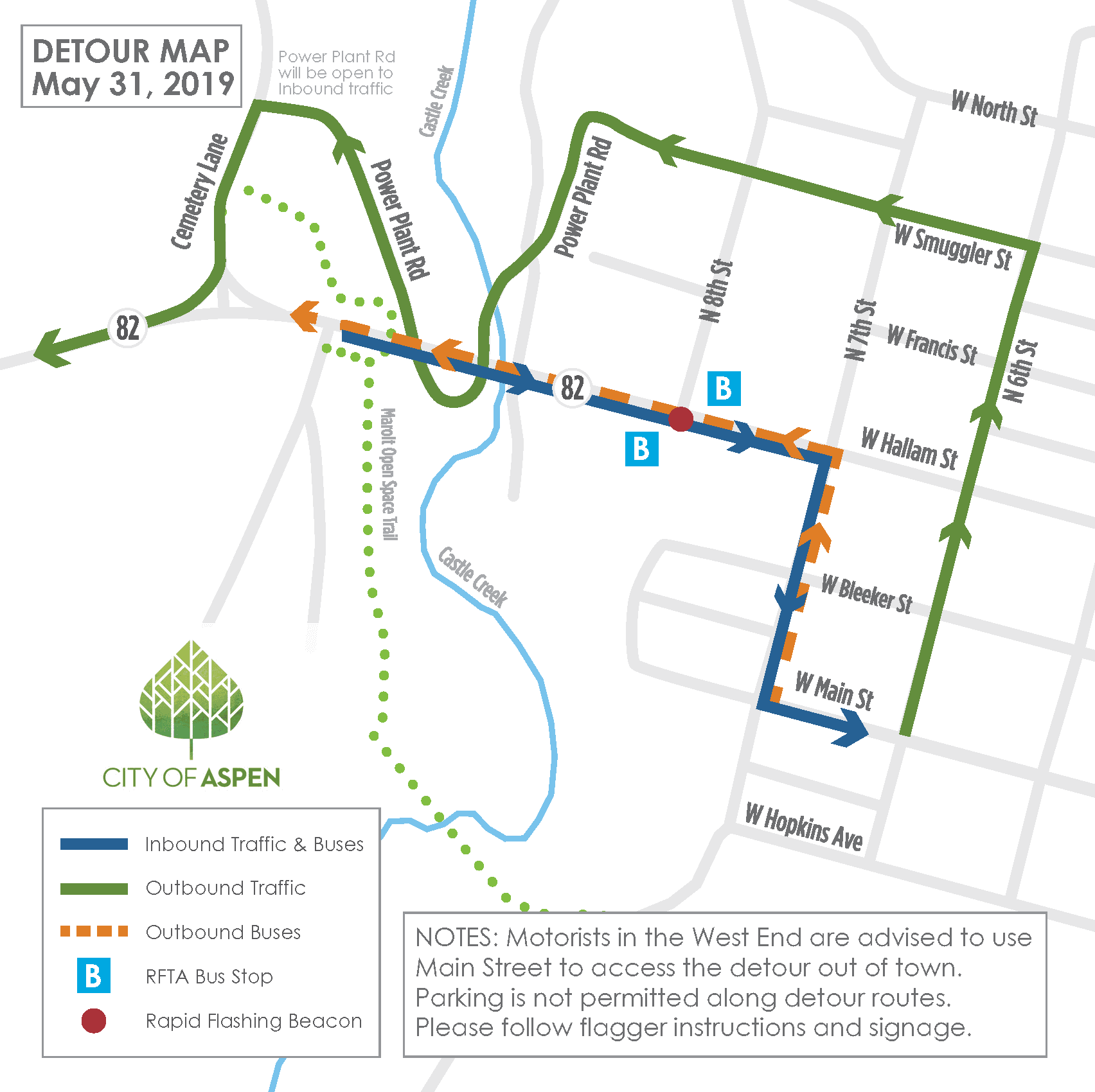 CCB Detour Map - May 31