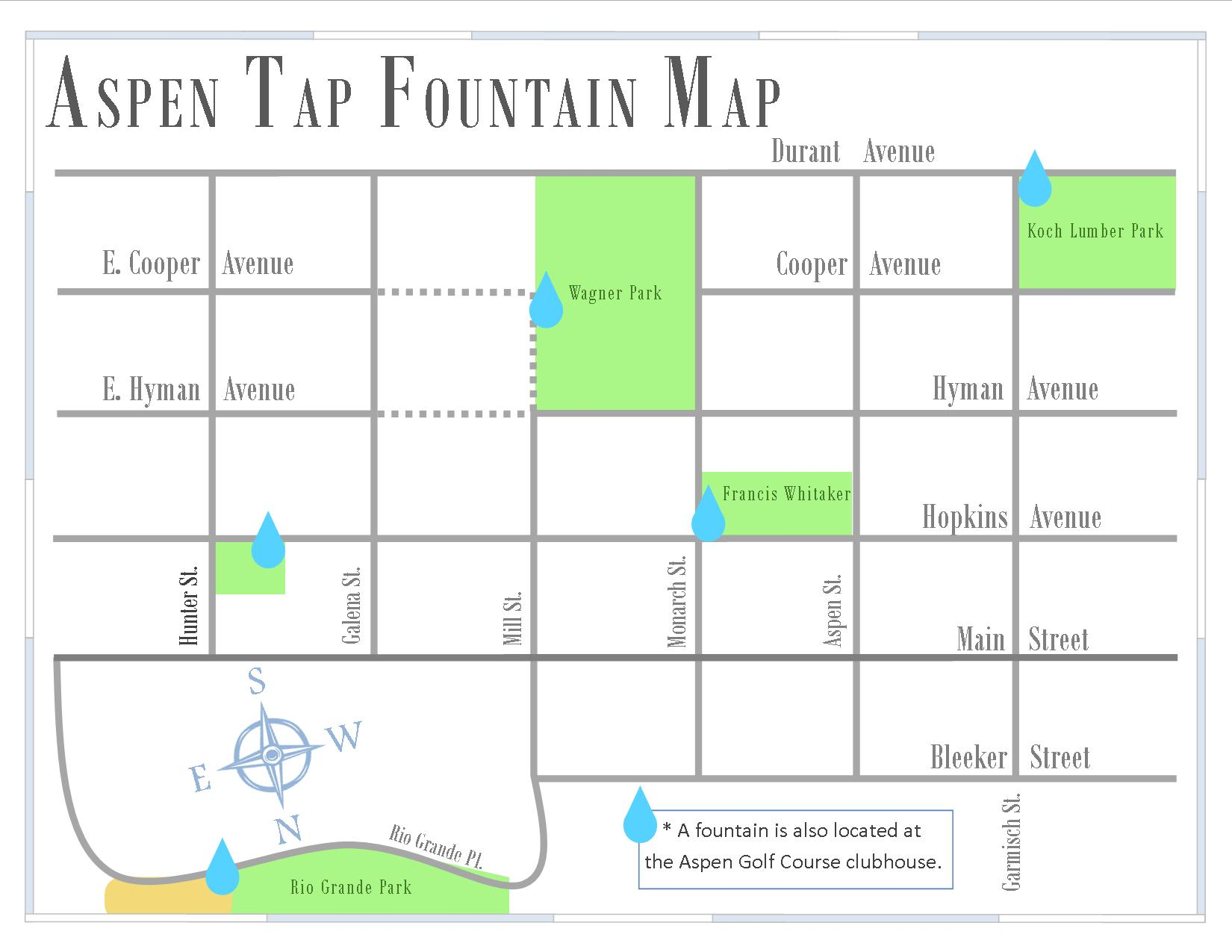 Water Aspen Tap Fountain Map