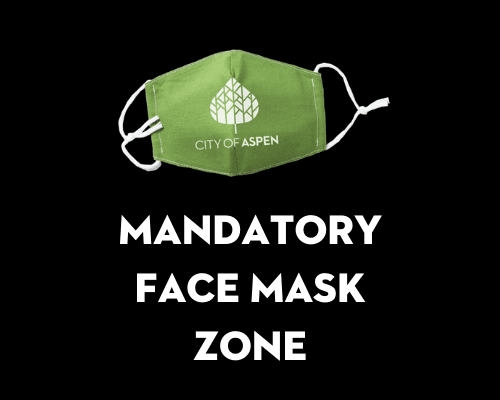 Mandatory face mask zone