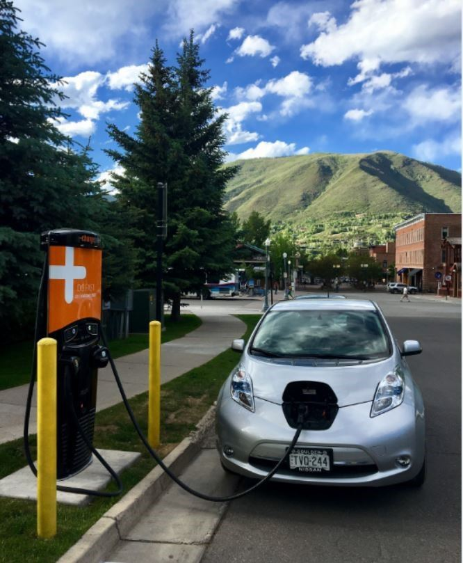 Electric vehicle charging on a street