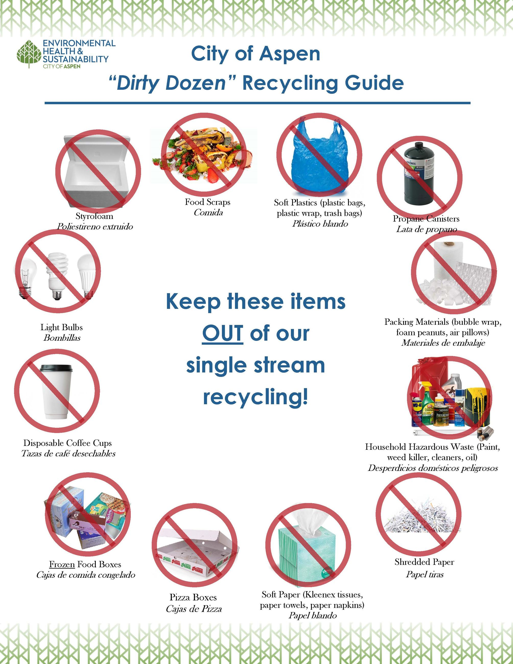 Recycling Dirty Dozen Opens in new window