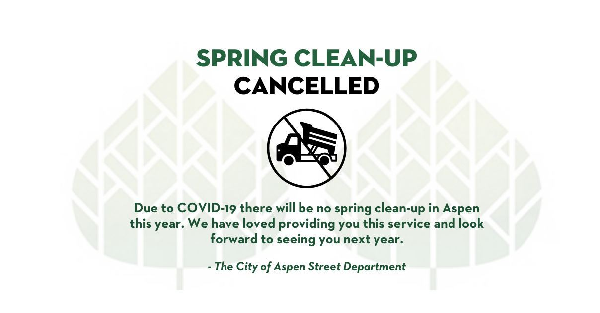 Covid 19 Streets Clean Up cancellation