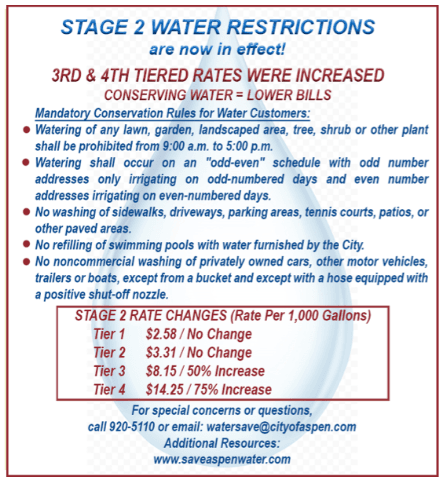 Stage 2 water restrictions image