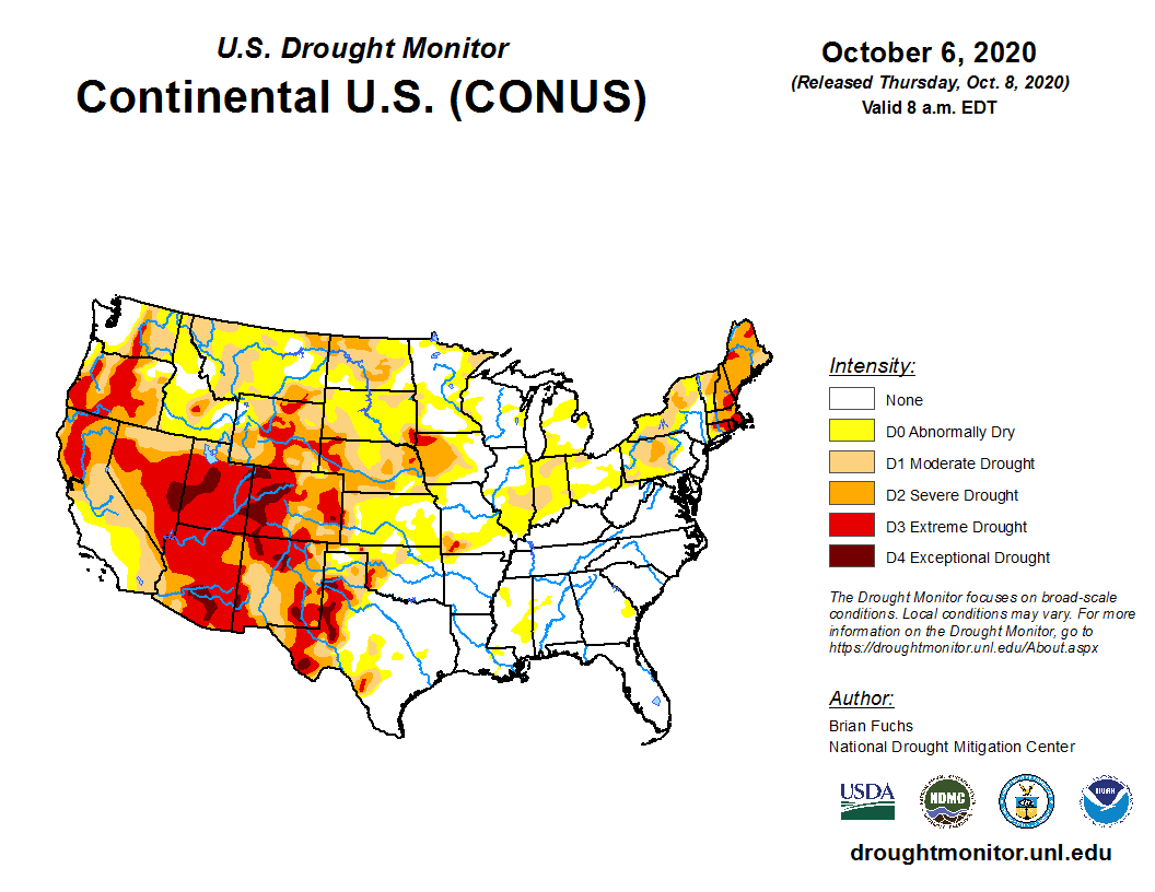 drought map oct 6