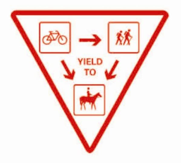 Bicycles Yield Sign